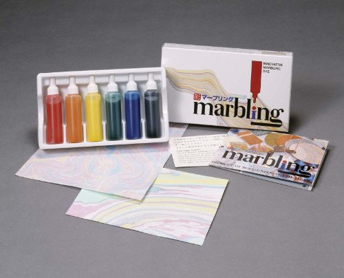 Boku-Undo Marbling Ink Set – Japanese Suminagashi; 6 marbling ink dyes w/ full instructions