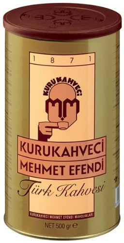 Turkish Ground & Roasted Coffee – 1.1lb (Kurukahveci Mehmet Efendi Türk Kahvesi – 500g)