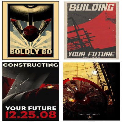 Lot of 4 Star Trek Movie Construction Retro Posters Prints