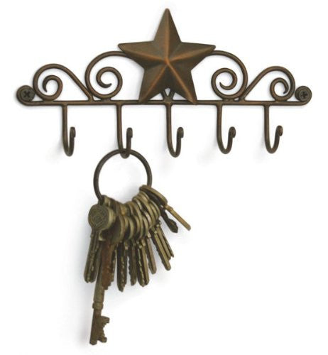 Key Racks ~ Exclusive Key Rack Holder ~ Star Key Ring Holder - Aged Copper