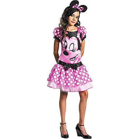 Pink Minnie Mouse Costume - Large