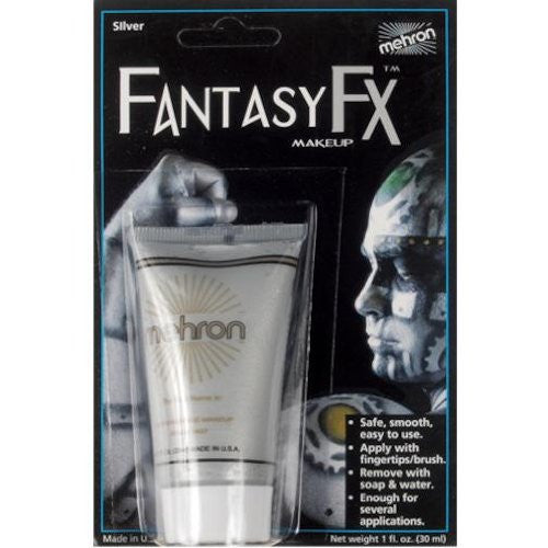 Fantasy F/X Water Based Makeup - Silver (1 oz.)