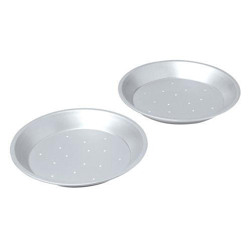 Chicago Metallic Uncoated Perforated 2 pc. Pie Pan
