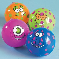 Inflatable Mini Monster Beach Balls 12-pc Set