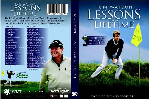 "Tom Watson ""Lessons of a Lifetime"" 2 - disc DVD Set (2010)"