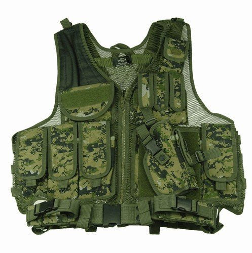 Woodland Digital Camouflage Deluxe Tactical Vest