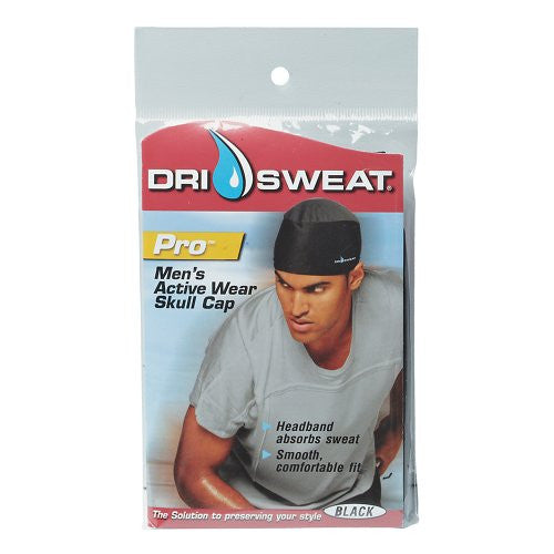 Dri Sweat Pro Men's Active Skull Cap Black