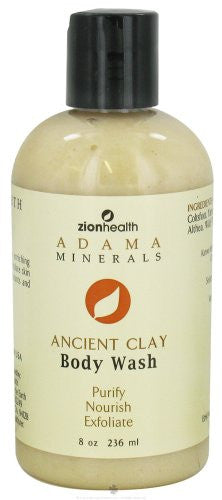 Zion Health Body Wash Ancient Clay 8 Oz