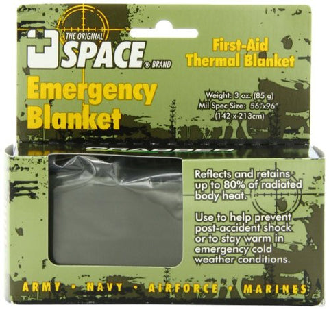 SPACE Brand Emergency Blanket - Olive Drab/Silver