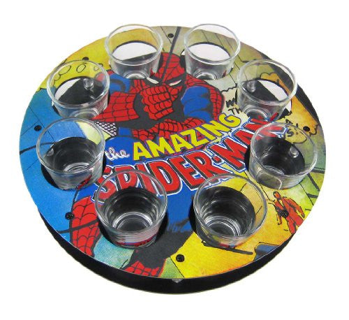 Marvel Comics: Spider-Man Shot Glass Tray