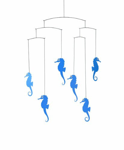 Sea Horse Mobile in Blue