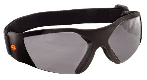 UNIQUE, SLEEK FITTING CLOSE CONTOURED EYE GUARD - Black Frame / Sunsight Gray Lens