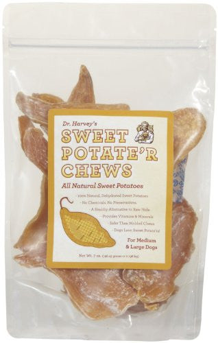 Sweet Potate'r Chews - Med. to Large Dogs  7 oz.