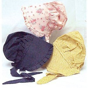 ASSORTED PRINT BONNETS, Medium