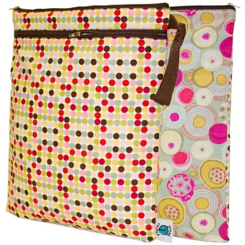 Planet Wise Wet/Dry Diaper Bag (Color: Piccolo Dot)
