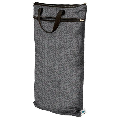 Planet Wise Wet/Dry Diaper Bag, Organic Silver Scroll