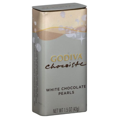 Godiva White Chocolate Pearls, 1.5-Ounces (Pack of 6)