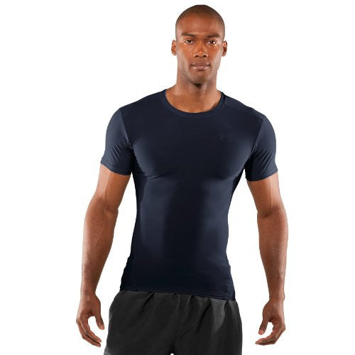 Tactical Compression Heatgear Tee - Dark Navy Blue, Large