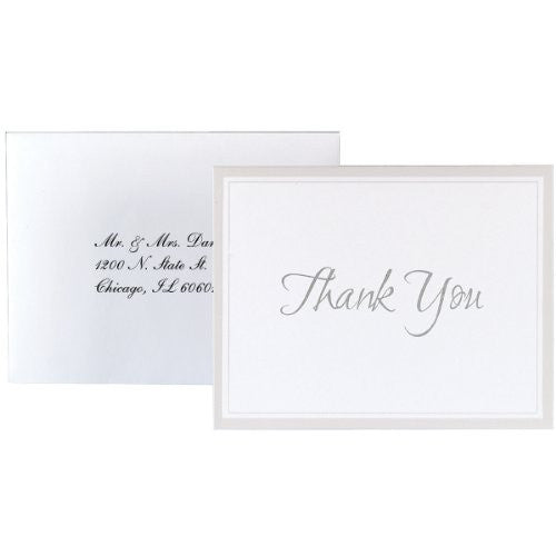 Thank You Card Kit Makes 50 - White Keeping w/ Tradition