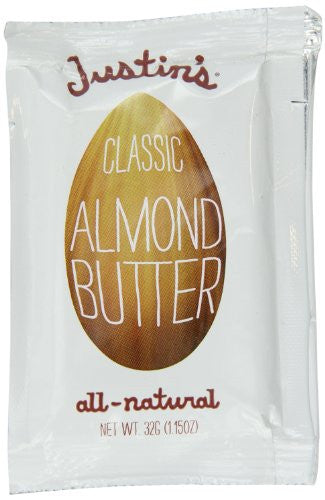 Justins Nut Butter Squeeze Packs, Classic Almond Butter, Natural 1.15 OZ