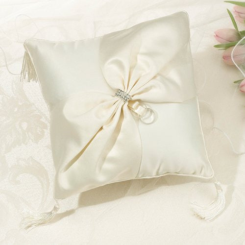 Ivory Sash Ring Pillow
