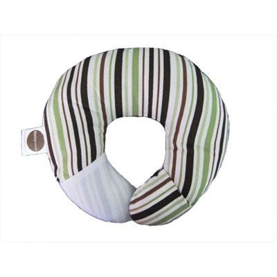 Babymoon Pillow - For Flat Head Syndrome & Neck Support (Pistachio Stripe)