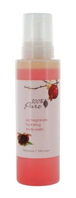 100% Pure Hydrating Body Wash - Pomegranate Bath And Shower Gels (Size: 17 oz)