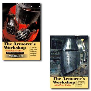 Armorer's Workshop I & II: A Step-by-step Guide to Making a Medieval Great Helm and Hourglass Gauntlets (2 Volume 4 DVD Set)