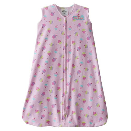 SleepSack Wearable Blanket, Cotton (Pink Cupcake, Large)