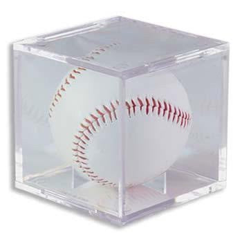 (1) One - Clear Ultra-PRO Baseball Cube Holder - Ultra PRO's Baseball Holder is the top of the line Protector & the best way to display & protect Baseballs. No PVC & Acid Free so it will not damage Balls or Autographs - (Baseball is not included)