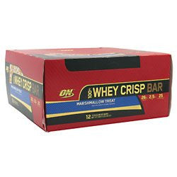 100% Whey Crisp Bar Marshmallow Treat 12 bars