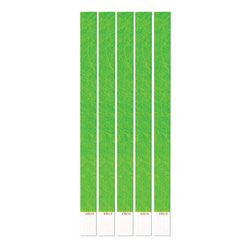 Tyvek Wristbands (neon lime) Party Accessory  (1 count) (100/Pkg)