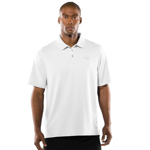 Men's UA Tactical Performance Polo Tops by Under Armour (Color: White/White Size:)