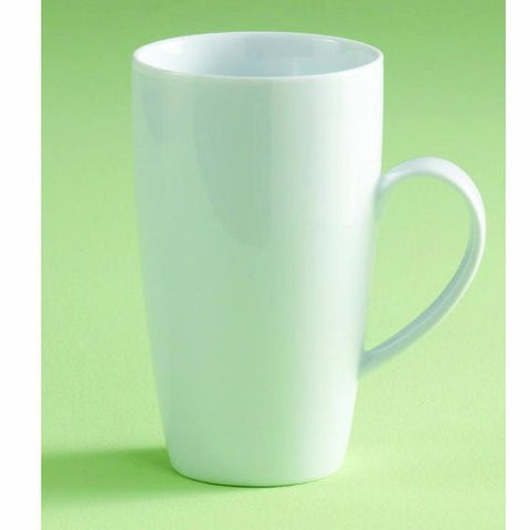 "WHITEWARE LATTE MUG-6""h x 3.5"" dia"