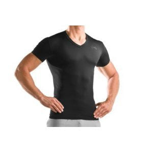 Tactical V-Neck Compression Heatgear Tee - Black, 2X-Large