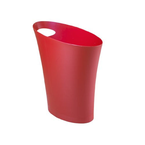 Umbra Skinny Polypropylene Waste Can (Color: Red)