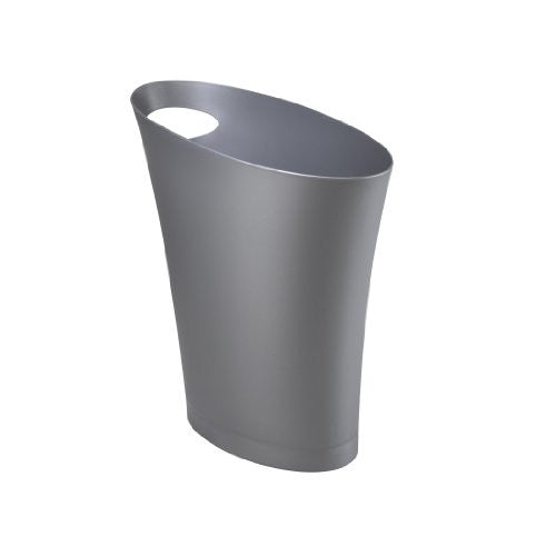 Umbra Skinny Polypropylene Waste Can (Color: Silver)