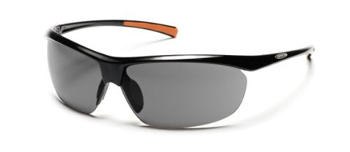 Zephyr Black with Gray Polarized Polycarbonate Lens