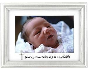 GODCHILD 4 x 6 Inches Charm Frame - Silver