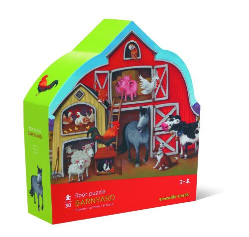 Barnyard Deluxe Shaped Box 30 Piece Floor Puzzle