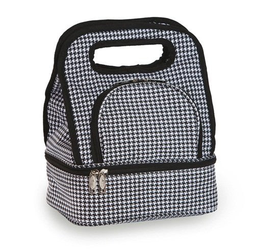 Picnic Plus Savoy Insulated Lunch Tote (Color: Houndstooth)