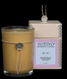 Morning Violet Candle 6.8oz candle by Votivo