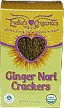 Raw Organic Lydia's Ginger Nori Crackers-5 ozs.