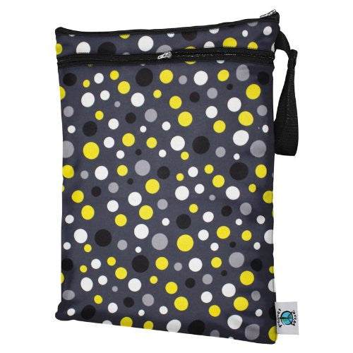 Planet Wise Wet/Dry Diaper Bag (Color: Bumble Dot)