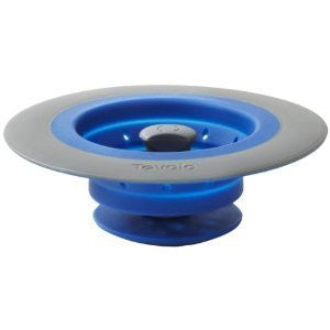 Tovolo Collapsible Silicone Sink Strainer/Stopper, Blue