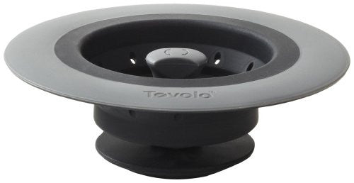 Tovolo Collapsible Silicone Sink Strainer/Stopper, Grey