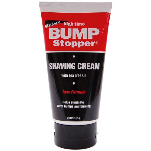 High Time Bump Stopper Shaving Cream W/Tea Tree Oil 5oz Tube