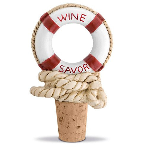 "Nautical Themed Wine ""Savor"" Bottle Stopper"