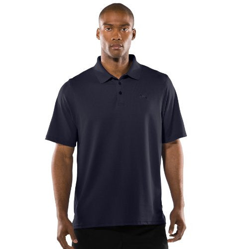 Men's UA Tactical Performance Polo Tops by Under Armour (Color: Dark Navy Blue/Dark Navy Blue Size:)