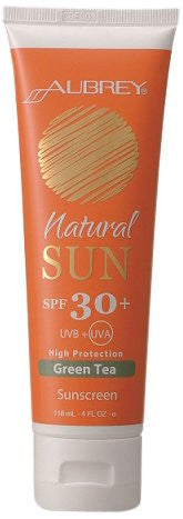 Aubrey Organics - Natural Sun Sunscreen High Protection Green Tea 30 SPF - 4 oz. OVERSTOCKED